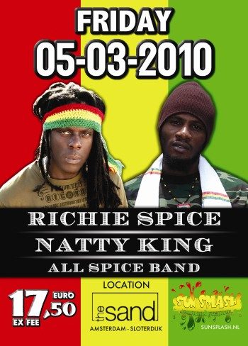 Flyer Richie Spice & Natty King